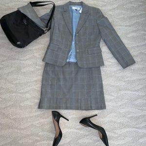Tahari Skirts - Tahari by Arthur S. Levine Gray Plaid Skirt Suit
